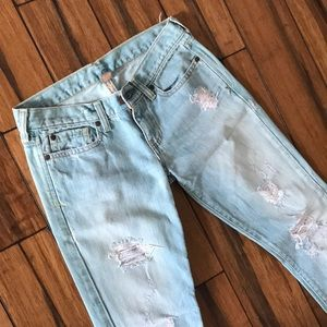 Abercrombie and Fitch Size 0 Distressed Jeans